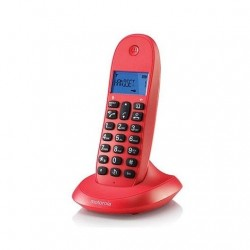 TELEFONO INALAMBRICO DECT DIGITAL MOTOROLA C1001LB ROJO